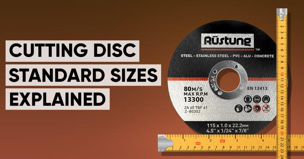cutting disc standard sizes